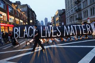 Police officer during a Black Lives Matter demonstration in New York City on July 8, 2016. Photo by Kena Betancur / AFP