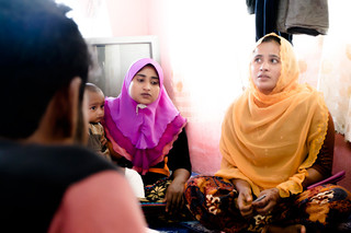 Rohingya refugees from Burma and Bangladesh in Alor Setar, Malaysia. The interviews were ultimately not used in our report. Photo by Andreas Staahl