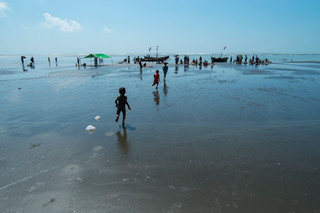 The beach at Beydar, adjacent to the Dar Paing refugee camp. Photo by Andreas Staahl