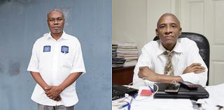 Two Haitian economists. Left: Camille Chalmers. Right: Kesner Pharel. Photos by Pieter van den Boogert