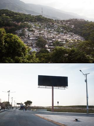 The hilly Haitian capital, Port-au-Prince. Photos by Pieter van den Boogert