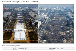 Left: Trump's inauguration. Right: Obama's inauguration.