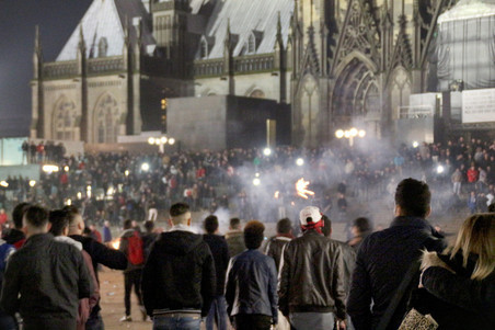 New Year's Eve in Cologne. Photo by Markus Boehm / AFP